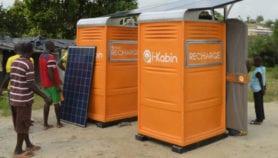 Des cabines solaires pour fournir de l'électricité