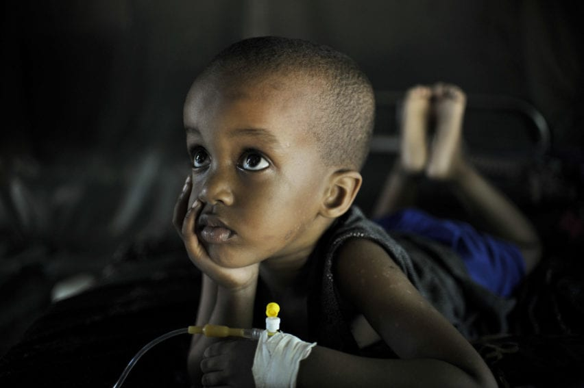child suffering from Malaria