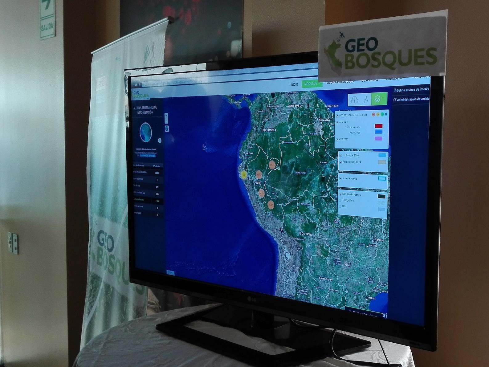 Con plataforma virtual, Perú monitorea bosque amazónico