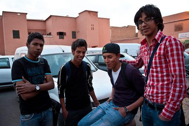 Jovenes reunidos Marruecos