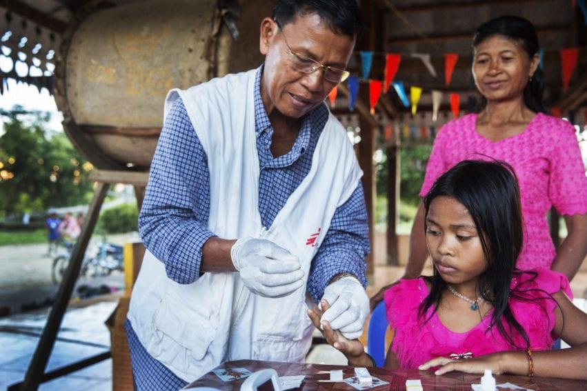 malaria blood test