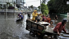 Two climate extremes: flooded cities, dry rural areas