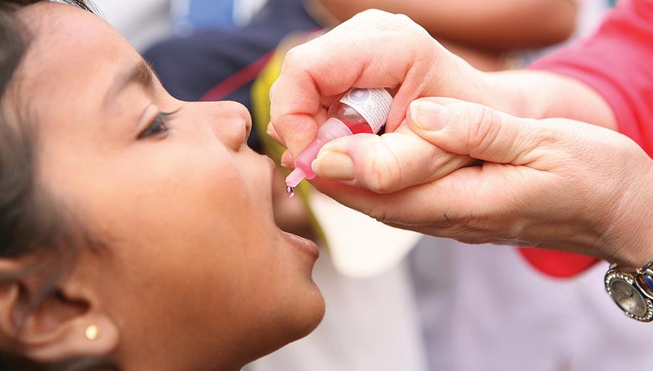 Polio eradication calls for both shots and drops