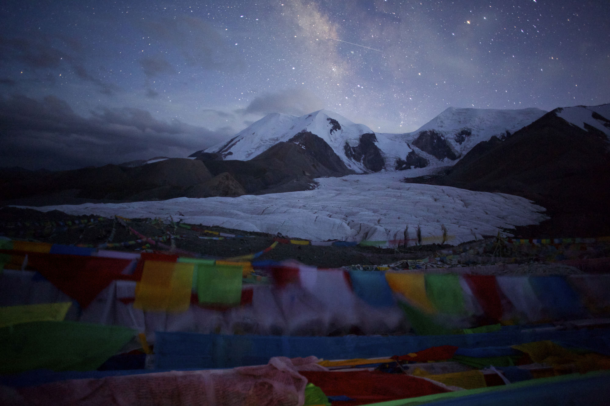 Glacial lake floods threaten Tibet