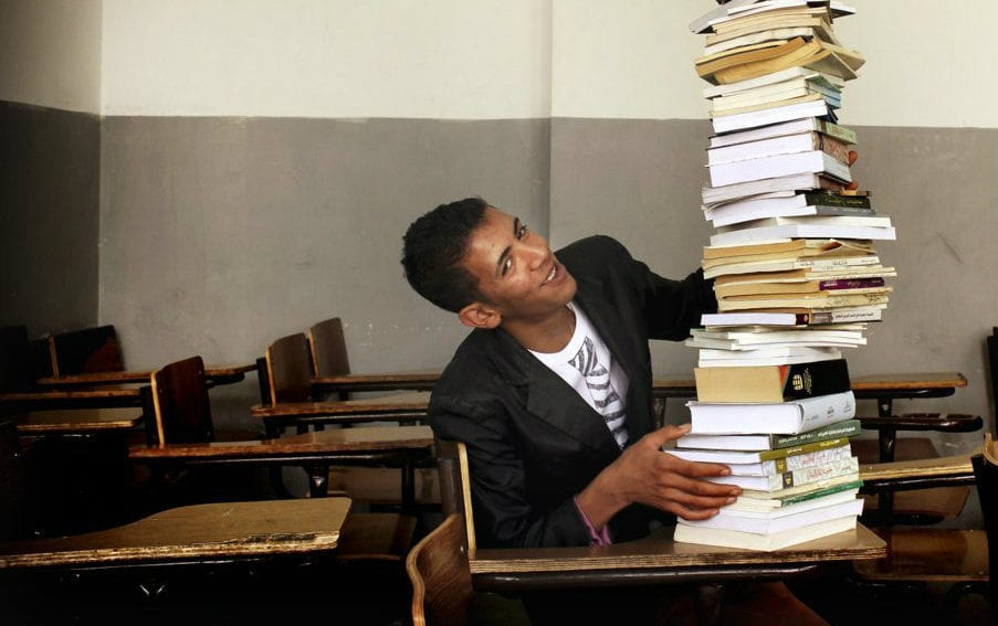 Stack of books africa knowledge economy