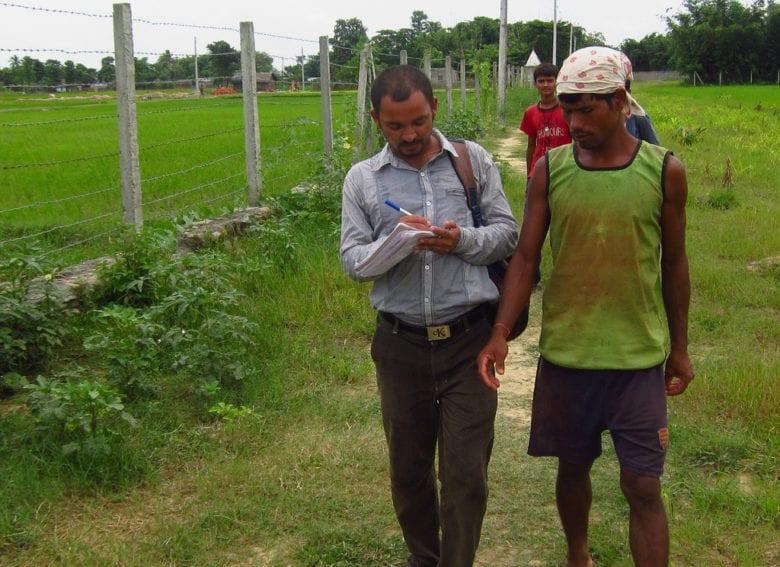 Journalist in action