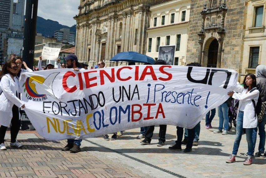 Colombia: About 300 people marched through the capital Bogota, alongside four other cities: Barranquilla, Bucaramanga, Cali and Medellin