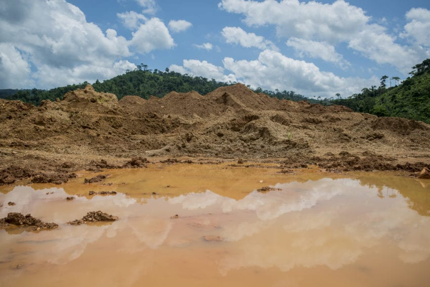 A degraded mining legacy left after the excavation done in search of gold-containing ores.