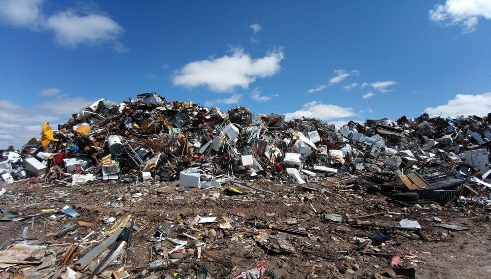 scrapyard metal waste junk recycle