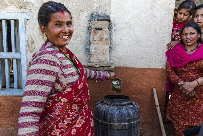 The urine from livestock can be mixed with the insect-killing leaves of plants such as neem to produce a liquid that is a natural pesticide and fertiliser, allowing communities to switch to organic farming and improve their income