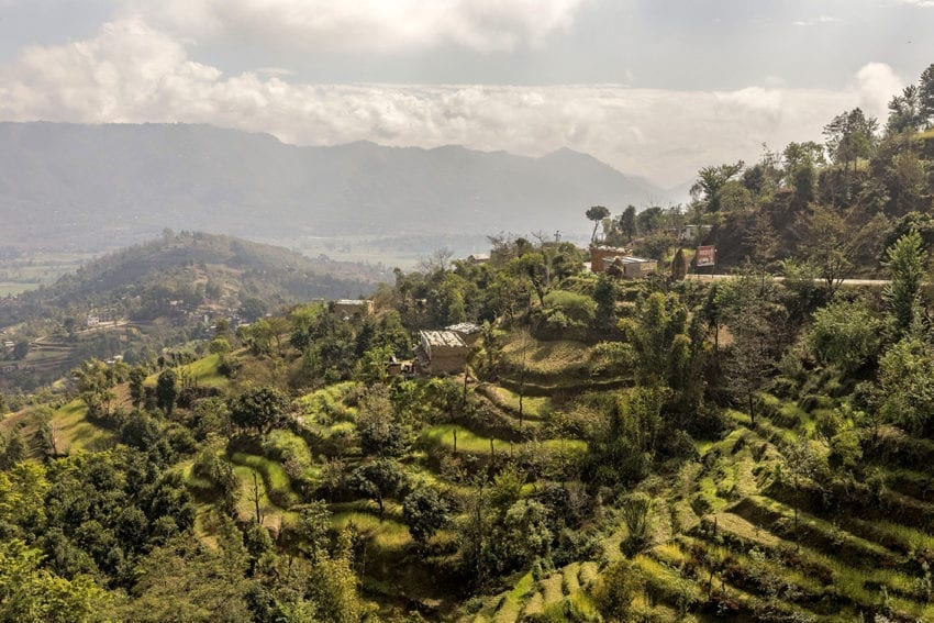 Terraced fields in Kavre district in Kathmandu Valley, about 40 kilometres from Nepal's capital. Two villages in the district have become 'smart' to help them adapt to climate change