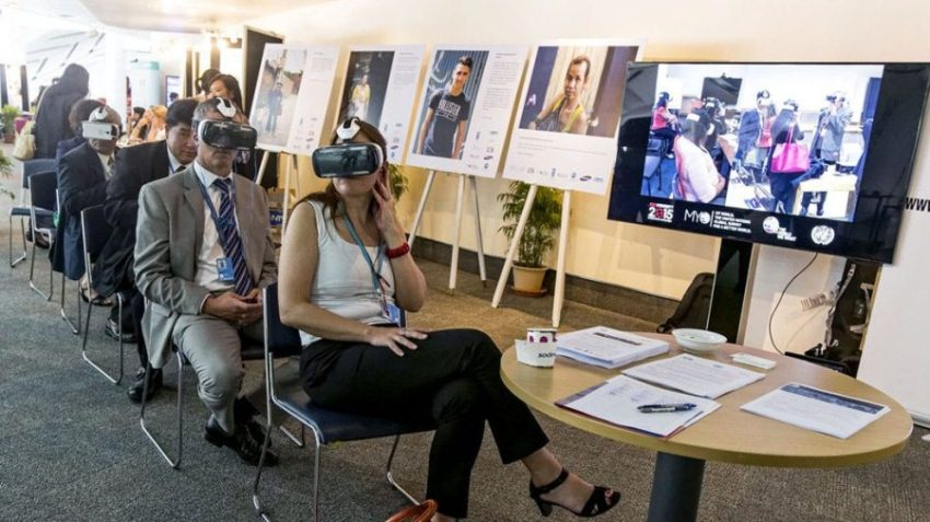 The event hosted a virtual reality set, a data-visualisation installation, and a photography exhibition.