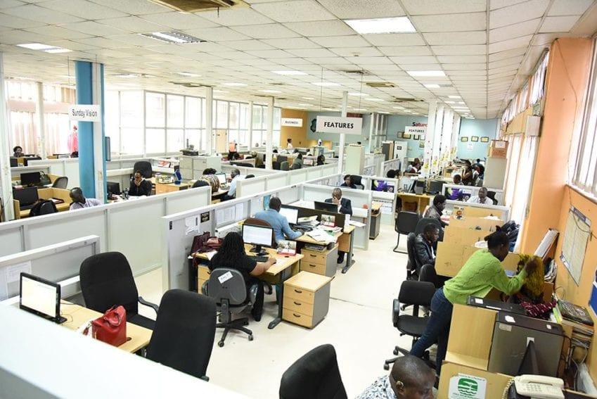 New Vision newsroom
