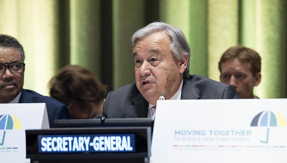 World leaders sign historic declaration on universal health coverage
