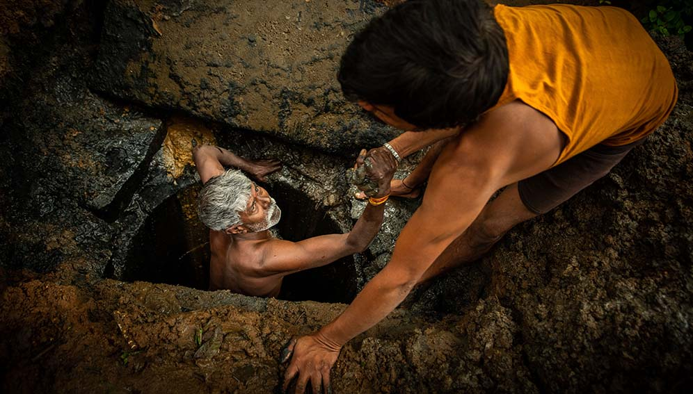 Poorest sanitation workers face stigma and ill health