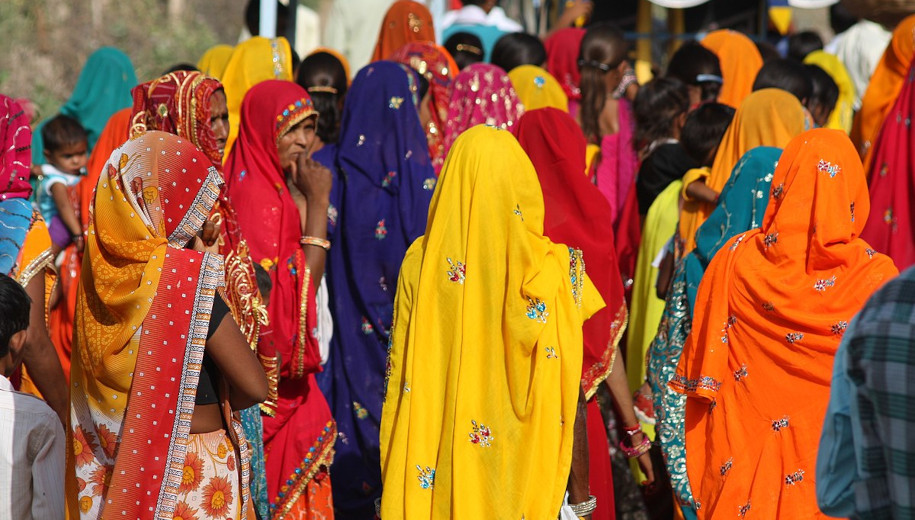 A group of Indian women in sari