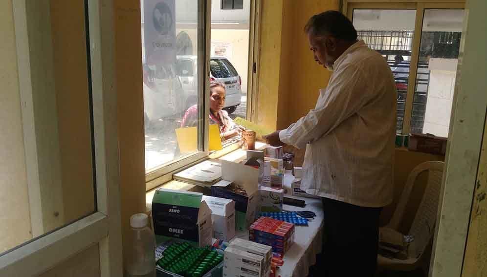 Inside an Indian pharmacy