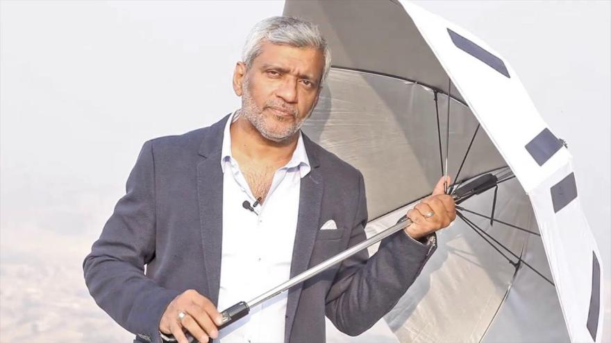 Solar powered umbrella for hajj