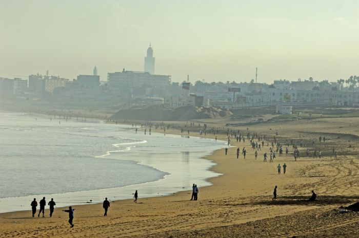 Casablanca's Atlantic Ocean beaches