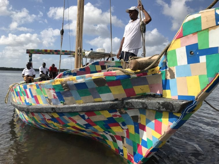 Dhow made from plastic waste