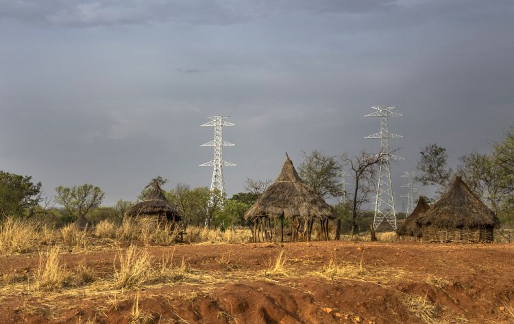 Electricity pylons, yet to be connected