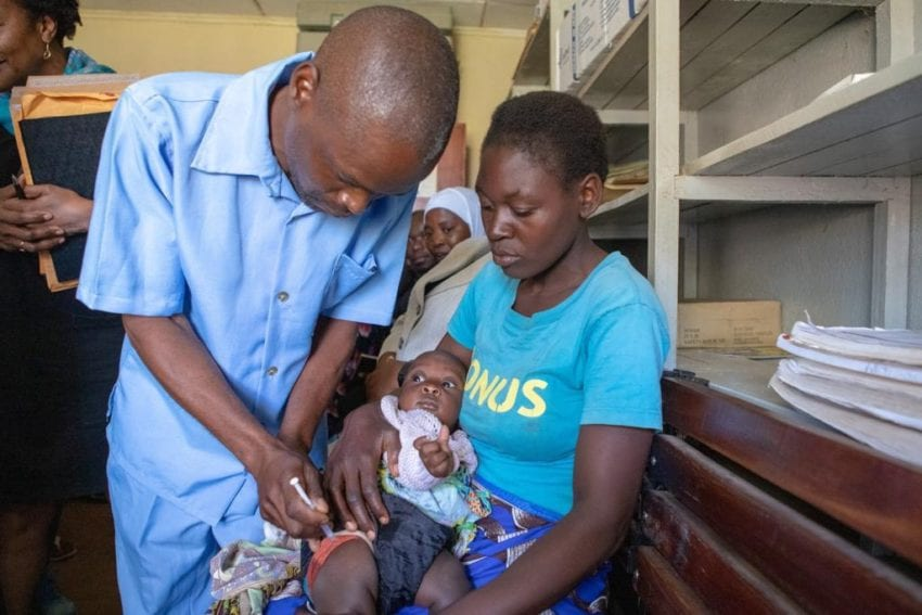 First child to be vaccinated