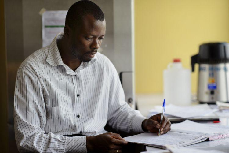 Laboratory Manager, Paul Sakpaku