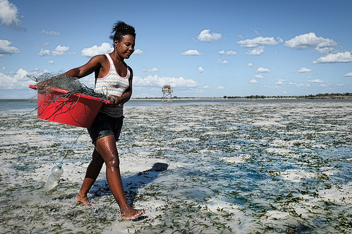 Seaweed farming changed the life of Narinchu Marcelline, now treasurer of the association of sea-cucumber farmers in Tampolove. As a result of this work she has a income, and a key role in the community. Women are increasingly involved in sea-farming activities that were once men's work — a form of adaptation.
