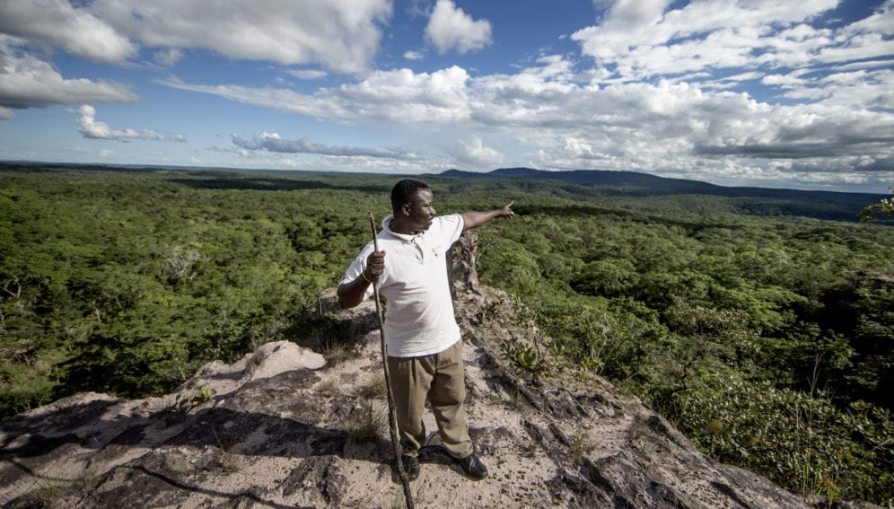 Said Masudi, chairman of Tunduru WMA, surveys the landscape