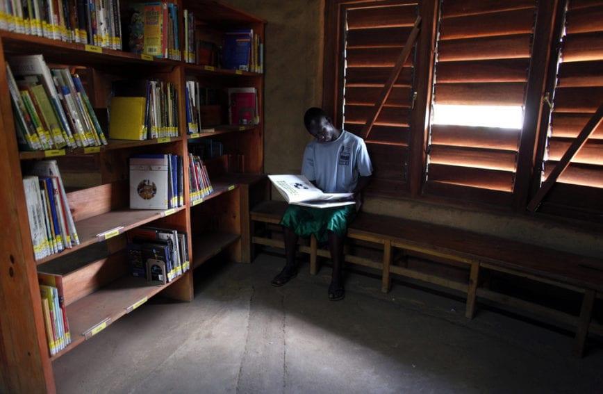 Student reading PhD
