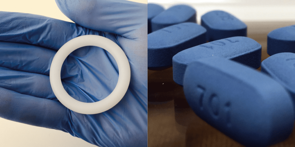 Dapivirine vaginal ring and tablets of oral PrEP medication