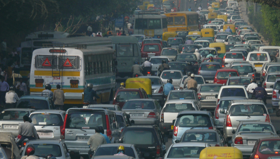 traffic jam in Delhi - main