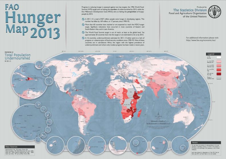 FAO Hunger Map 2013
